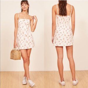 NEW Reformation Ava Floral Ruffle Mini Dress 0